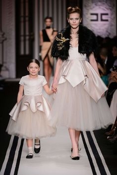 Milan Fashion Week Spring Summer 2018 and fall winter 2017 mini-me outfits #elisabettafranchi #elisabettafranchilamiabambina #fw17 #fall #winter #fallwinter2017 #childrens #kids #childrenswear #kidswear #kidsfashion #girls #boys #minime