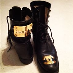 Chanel motorcycle boots. DYING.