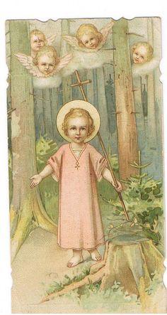 Vintage holy card illustration