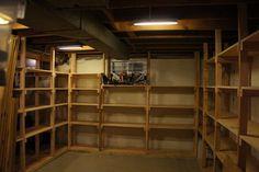 Basement shelves - by Andy Panko @ LumberJocks.com ~ woodworking community