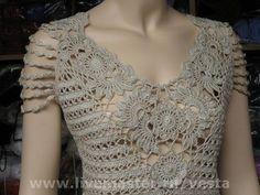 Летняя блуза - нарядный,крючком,лето 2014,ажурная блуза,летняя,оригинальная