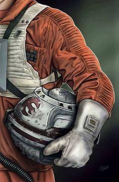 Star Wars: Rebel Pilot Luke Skywalker by Scott Zambelli Star Wars Rebels, Rpg Star Wars, Star Wars Helmet, Nave Star Wars, Star Wars Fan Art, Star Trek, Wallpaper Darth Vader, Star Wars Wallpaper, Images Star Wars