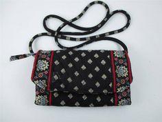 10.88$  Buy now - http://vijyo.justgood.pw/vig/item.php?t=yoru8a728972 - Vera Bradley Wallet Shoulder Bag Black Floral Quilted