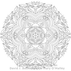 Red and Yellow Dahlia III from '52 (more) Flower Mandalas: An Adult Coloring Book for Inspiration and Stress Relief' by Mary O'Malley and David Bookbinder. A flower mandala for you to color each day of the week! Available on Amazon