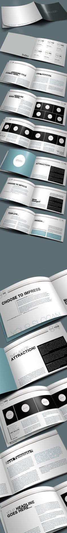 Clean Brochure by Danijel Mokic, via Behance