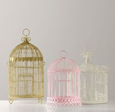 Decorative Birdcages | Room Décor | Restoration Hardware Baby & Child - to hang bows