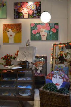 Actitud Creativa KARINA CHAVIN / Circo Golondrina Interior Design Certification, Art Tutor, Fashion Painting, Small Art, Environmental Art, Art Journal Inspiration, Woman Painting, Folk Art, Art Projects
