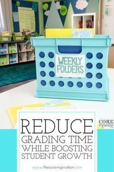 Spend less time grading and more time lesson planning...and resting. I love these teacher time management tips for reducing grading piles and overwhelm. When I started implement these systems, I had fewer papers to grade, more rapid student growth, and more time to recharge.#teachertips #teacherorganization #grading #gradingtips #elementaryteachers #coreinspiration