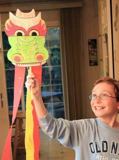 Dragon paper craft & Lantern craft - instructions included