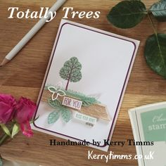 Totally Trees Kerry Timms stampin up handmade card cardmaking class gloucester birthday hobby crafts creative papercraft scrapbooking leaves