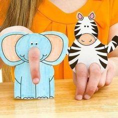 Tiere aus Papier basteln - Schablonen zum Ausdrucken-dekoking-com