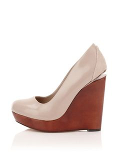 Mark + James Dante Wooden Platform Wedge $119