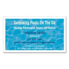 Pool service cards business card templates pool service business swimming pool water business card colourmoves