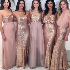 On Sale Outstanding Sequin Bridesmaid Dress Custom Sparkly Mismatched Sequin Long Bridesmaid Dresses, Cheap Rose Gold Custom Long Bridesmaid Dresses, Affordable Bridesmaid Gowns, Beach Wedding Bridesmaid Dresses, Affordable Bridesmaid Dresses, Mismatched Bridesmaid Dresses, Bridesmaid Dresses Online, Wedding Party Dresses, Wedding Beach, Beach Bridesmaids, Trendy Wedding, Dress Party