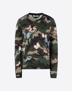 VALENTINO Women Cotton sweatshirt with embroidered butterflies 37710367RW
