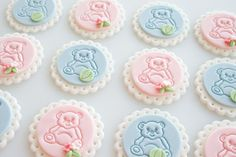 How to make embossed teddy bear fondant cupcake toppers on http://cakejournal.com/tutorials/how-to-make-embossed-teddy-bear-fondant-cupcake-toppers/