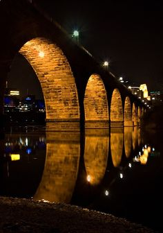 See The Minneapolis, Minnesota Stone Arch Bridge Minnesota Home, Minneapolis Minnesota, Minnesota Snow, Minneapolis Skyline, Minnesota Vikings, Oh The Places You'll Go, Places To Visit, Arch Bridge, Architecture