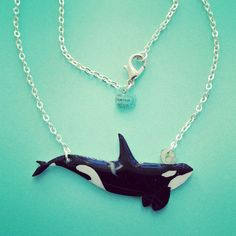 Orca / Killer Whale necklace or choker high by KatieElizabethONeil. My latest…