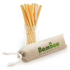 Bamboo straws are the perfect eco-friendly straws for your drinks. Bambaws's reusable straws are handmade in Bali and natural. This bamboo drinking straws are biodegradable and won't leave a trace. Zero Waste Store, Use Of Plastic, Cutlery Set, Cotton Bag, Brush Cleaner, Sustainable Living, Sustainable Fashion, Biodegradable Products, Smoothies
