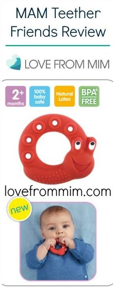 MAM Teether Friends Review - lovefrommim.com Teething Baby Product How to help a teething baby
