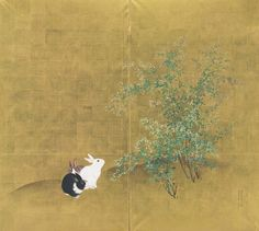 Mori Kansai (1814-1894), Rabbits, 1881. Two-panel screen. Ink, colour and gold leaf on paper. 65¼ x 72¼in. (165.7 x 183.2cm.) Estimate $8,000-10,000. Sold for $11,875 at the Japanese and Korean Art sale on 18 September 2013 at Christie's New York