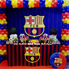 Updates from paperstudioeu on etsy messi birthday, soccer birthday cakes, football birthday, boy Soccer Birthday Parties, Football Birthday, Birthday Party Themes, Messi Birthday, Soccer Birthday Cakes, Barcelona Soccer Party, Football Messi, Fc Barcalona, Party Pops