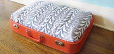 DIY Vintage Suitcase Dog Bed