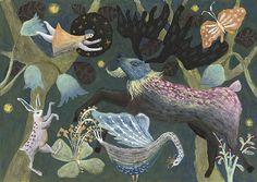 Etsy の Original Painting Poetry of life by TetsuhiroWakabayashi