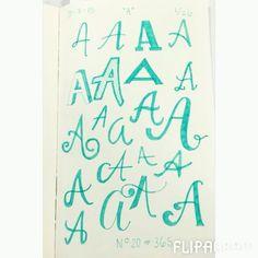 From #AtoZ #thewholeenchilada #lettereveryday #practicemakesprogress #lettering #handlettering #handdrawntype #type #handletteredABCs #redefinecreativelettering