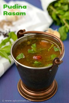 A food blog for daily cooking which has both south indian recipes pudina rasam recipe forumfinder Gallery