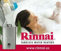 With a Rinnai tankless water heater, you'll enjoy hot water when you need it – for as long as you want it! Click here to learn more: http://www.mcservice.com/tankless.aspx