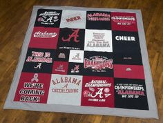 T-shirt quilts!!! (Collect favorite shirts and make one for each of our sons) Graduation Gift?