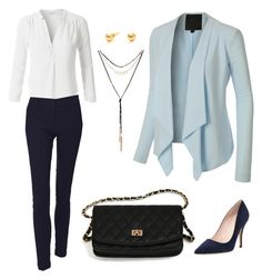 """""""Everyday Work Outfit"""" by le3noclothing ❤ liked on Polyvore featuring LE3NO and Kate Spade"""