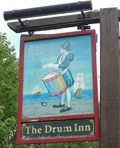 Drum Inn pub sign Cockington Devon   Flickr - Photo Sharing!