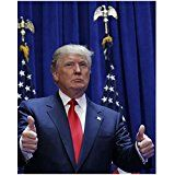 Get This Special Offer #9: Donald Trump 8 Inch x10 Inch Photo The Apprentice Two Weeks Notice Fox and Friends Two Thumbs Up Flags in Background kn