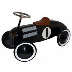 Stupenda macchina da corsa retro cavalcabile della casa danese Image Toys.
