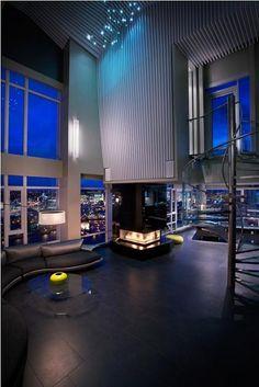 The $10 Million Aquarius Penthouse Feels Like a Nightclub