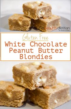 These Gluten Free Peanut Butter White Chocolate Blondies are the perfect treat. Super quick to make and heavenly tasting | www.thenaughtydietitian.com | peanut butter | white chocolate | blondies | gluten free recipes | blondie recipes | peanut butter recipes | gluten free blondies | peanut butter blondies | white chocolate blondies | gluten free baking | gluten free dessert | how to make gluten free blondies | how to make peanut butter blondies | easy gluten free recipes