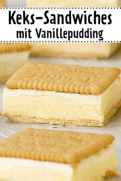 Whether as or instead of cake these biscuit sandwiches will tear your guests out of your hands! The post Biscuit sandwiches with vanilla pudding appeared first on Win Dessert. Easy Cake Recipes, Cookie Recipes, Snack Recipes, Dessert Recipes, Cupcake Recipes, Sandwich Recipes, Food Cakes, Biscuits, Biscuit Sandwich