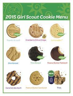 Great cookie marketing piece - a Girl Scout Cookie cheat sheet for younger girls to learn their cookies and money counting skills. #cookieboss #girlscoutcookies #cookiemarketing