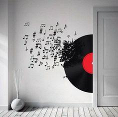 Musik von der Schallplatte - im Flur?