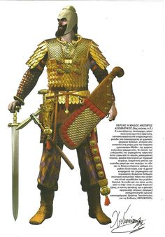 Persian High Officer Military Art, Military History, Persian Warrior, Cyrus The Great, Soldier Costume, Ancient Armor, Achaemenid, Ancient Persian, Ancient Near East