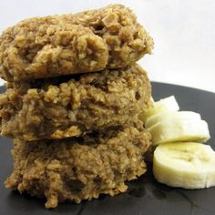 Oatmeal Banana Breakfast Cookies - I would use in lieu of power bar during the day.  Make sure to use GF oats and oat flour.