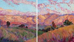 Modern impressionist landscape painting for sale by Erin Hanson