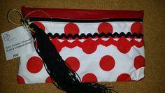 Bolso flamenco piel+textil