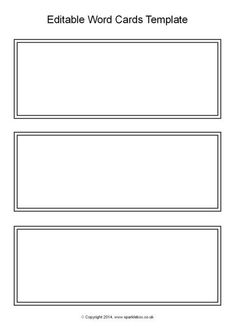 918f0b017b2 Editable Black and White Word Cards Template (SB10512)