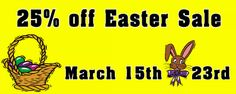 Custom Retail Easter Sale Banner : Front