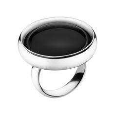 REGITZE ring - sterling silver with black agate  -  Georg Jensen  -  DESIGNER: REGITZE OVERGAARD