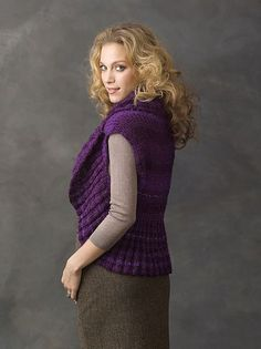 Free knitting pattern for Endless Circle Vest pattern by Julie Farmer