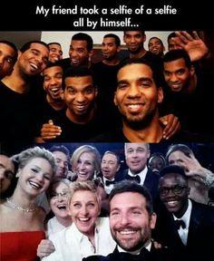 El selfie más famoso de la historia con uno mismo, GIGANTE